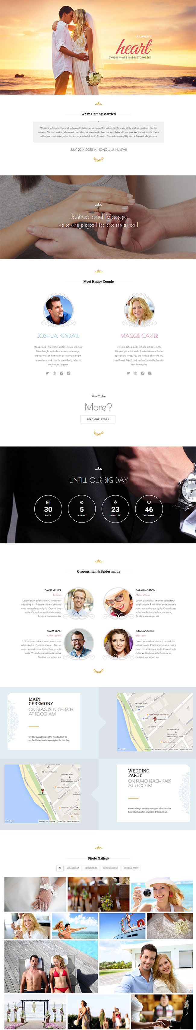 40+ Sweet Responsive Wedding & Marriage WordPress Themes 2017 ...