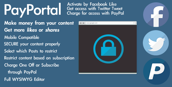WordPress Social and Paypal Content Paywall