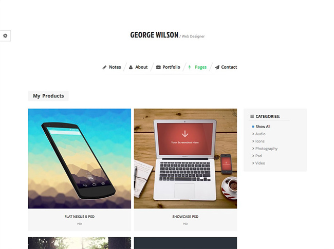 bernate-personal-wordpress-theme