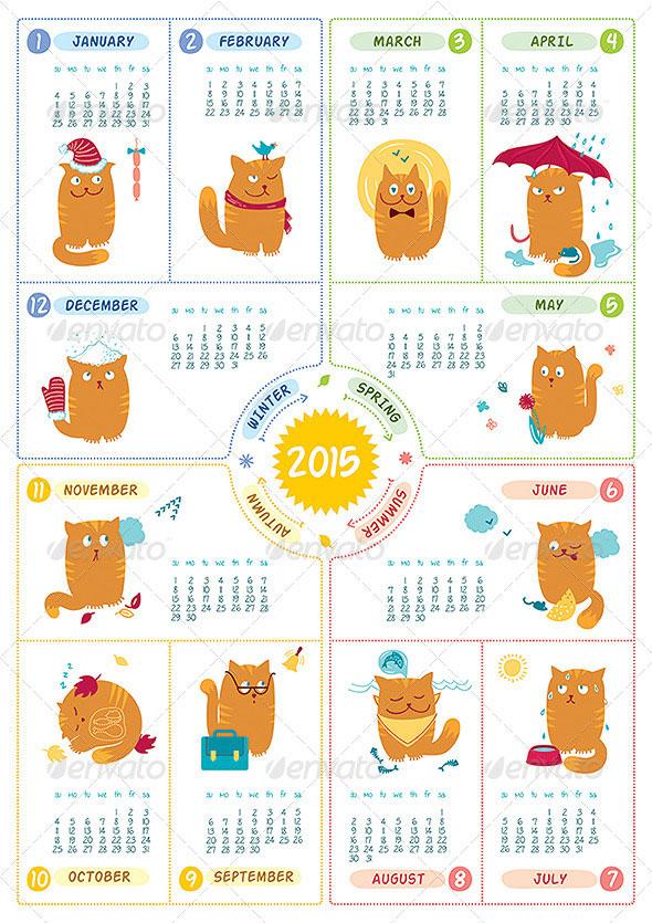 calendar-2015-cats