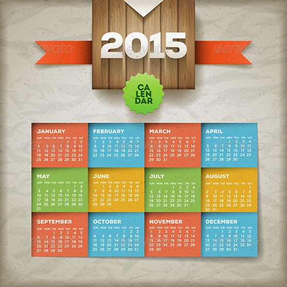 calendar-2015-vector-template