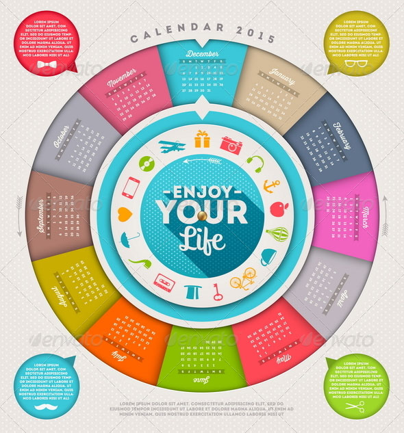 calendar-2015-with-hipster-signs