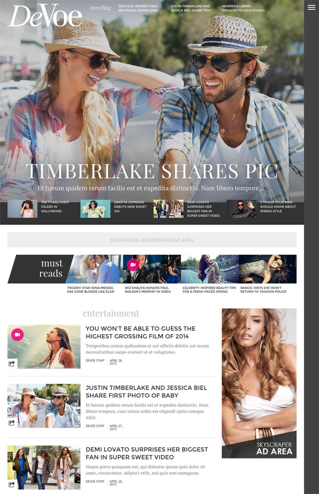 devoe-fashion-entertainment-news-wordpress-theme