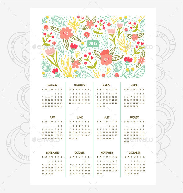 floral-calendar-for-year-2015