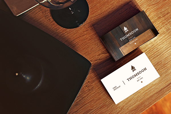 Free Business Card and Tablet PSD Mockup 2