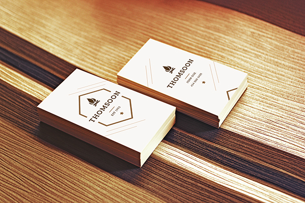 Free Business Card and Tablet PSD Mockup 3
