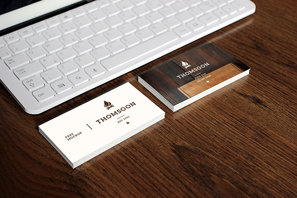 Free Business Card and Tablet PSD Mockup 6