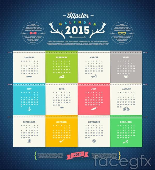 fresh-2015-calendar-vector
