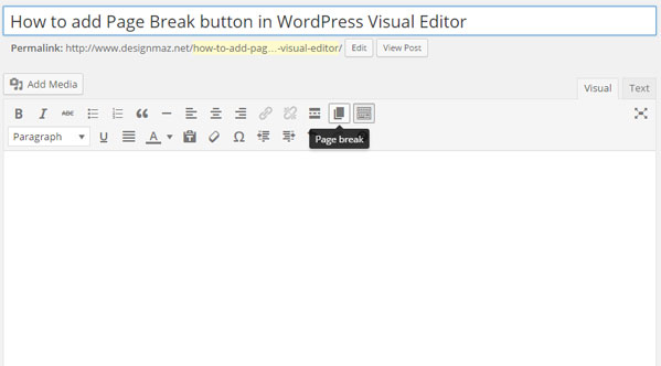 how-to-add-page-break-button-in-wordpress-visual-editor