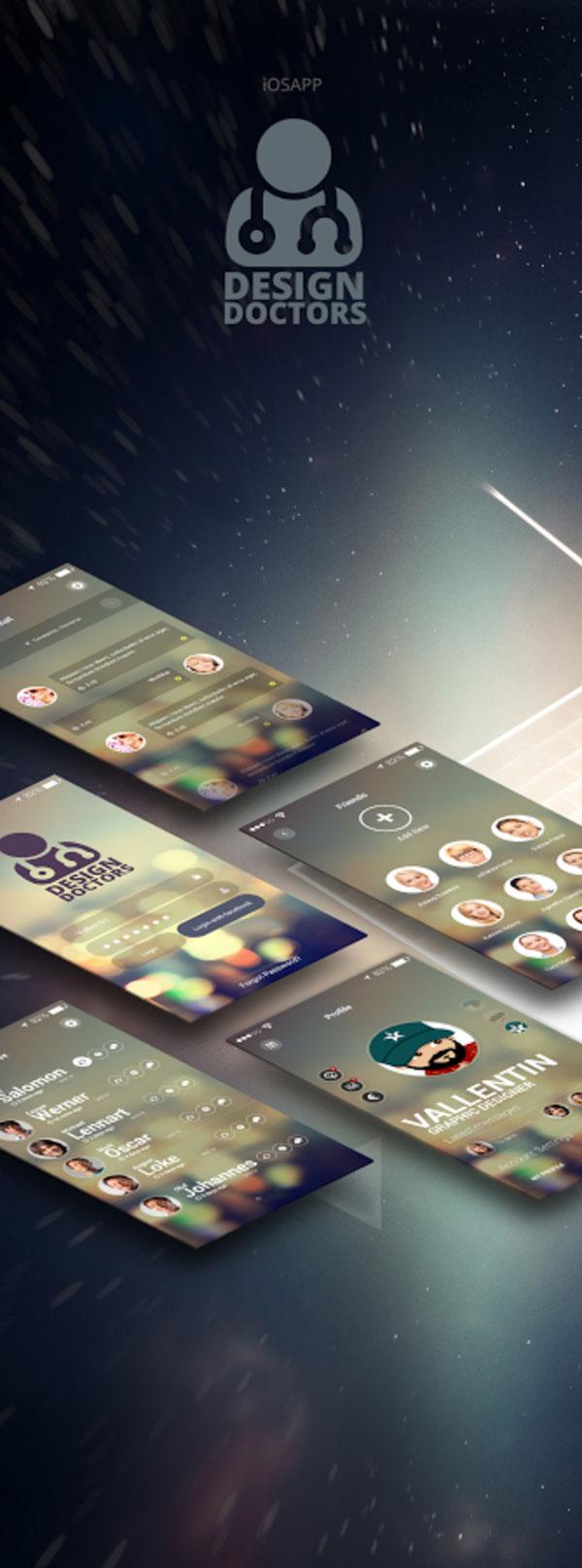 PSD Social App UI Design