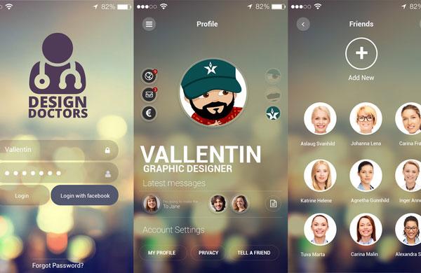 Psd Social App Ui Design Free Download