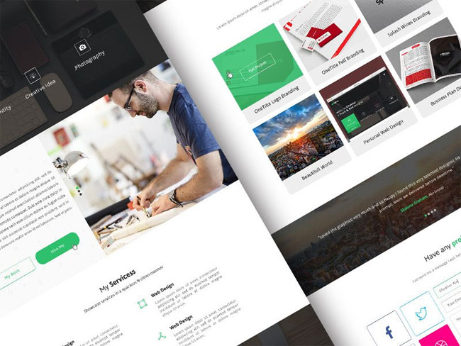 sefolio-personal-one-page-psd-template