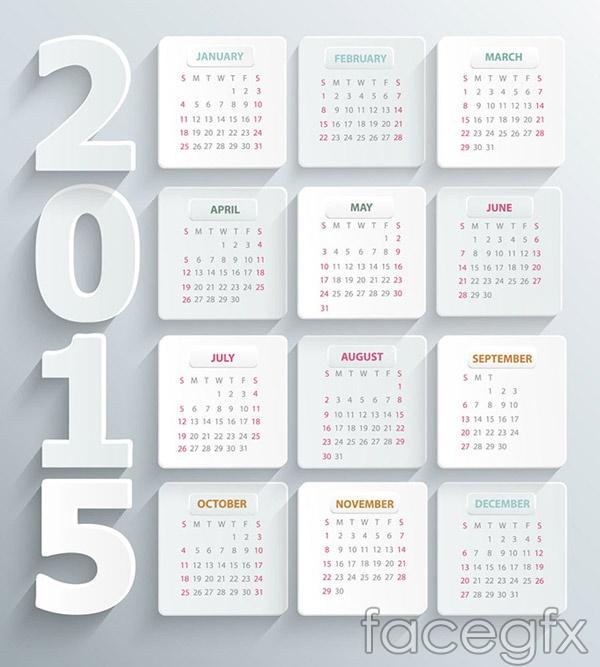 simple-2015-calendar-vector