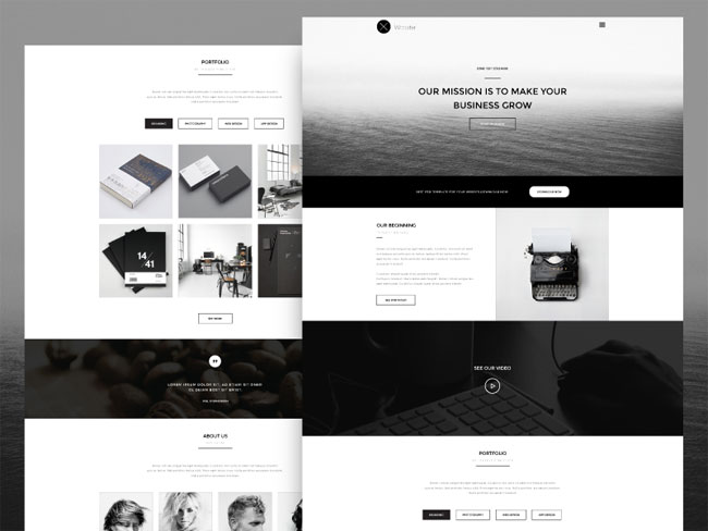 wooster-free-vintage-one-page-psd-theme
