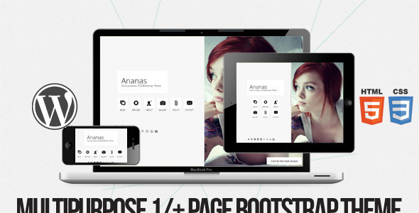 Ananas - Multi purpose 1- page Bootstrap Theme
