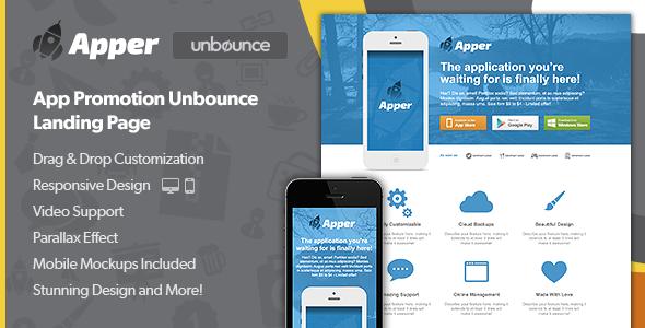 Apper - App Promotion Unbounce Landing Page