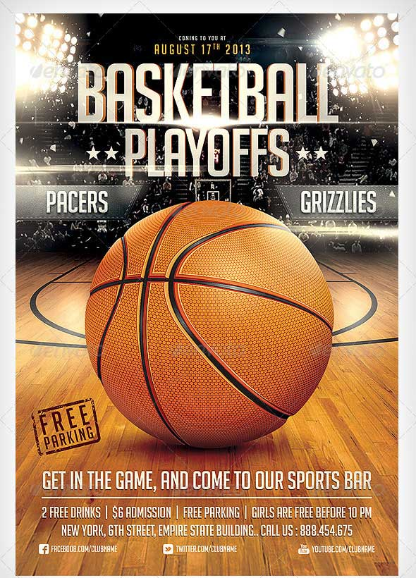 BasketBall-Game-Flyer-Template
