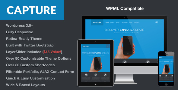 Capture - Responsive Bootstrap WordPress Theme