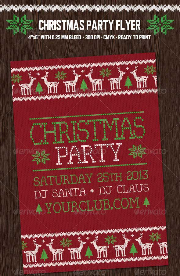 Christmas-Party-Flyer-with-Deers