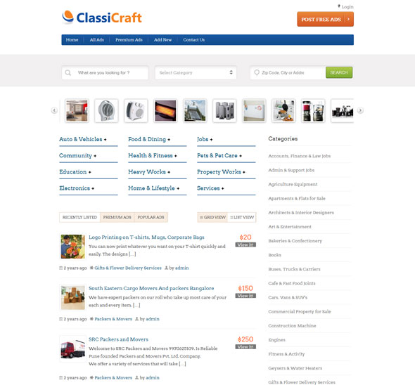 ClassiCraft-WordPress-Classified-Listing-Theme