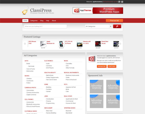 15+ Best Classifieds ads WordPress Themes 2017 - DesignMaz