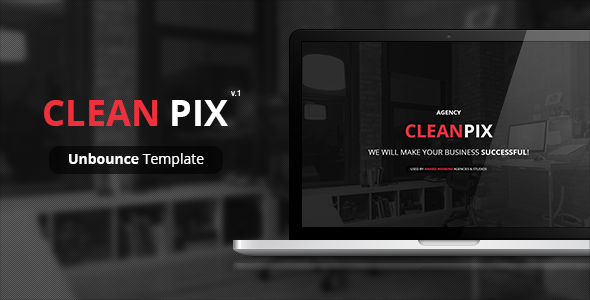 CleanPix - Unbounce Template