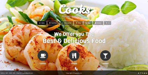 Cooks - Restaurant WordPress Theme