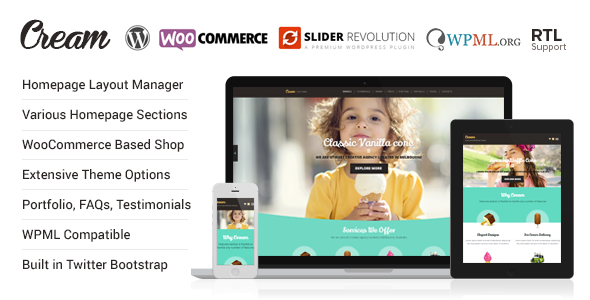 Cream - WooCommerce WordPress Theme