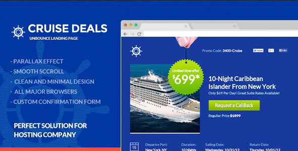 CruiseDeals - Discount Landing Page