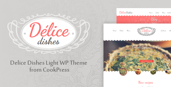 Delice Dishes Light WP Cook Theme