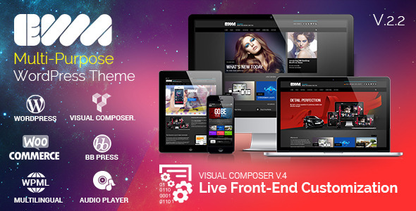 EWA - Bootstrap Multi-Purpose WordPress Theme