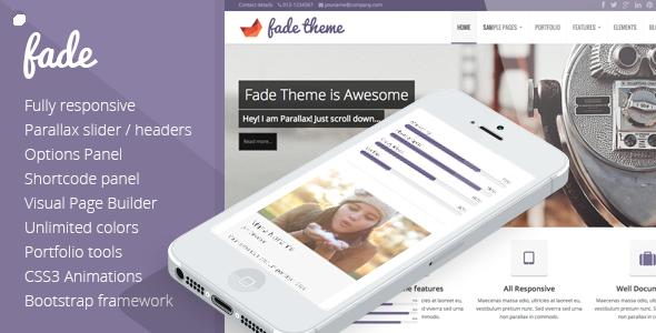 Fade - Responsive, Parallax Bootstrap Theme