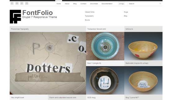 Free FontFolio Drupal Theme