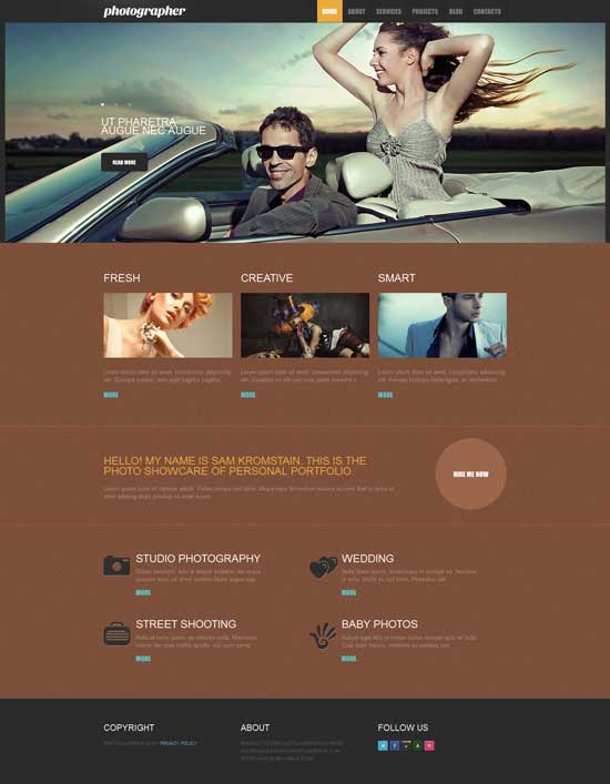 Free Photography Responsive Drupal Template