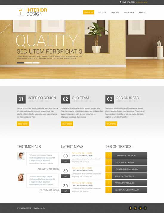 Templates Responsive Free. 250 free responsive html5 css3 website ...
