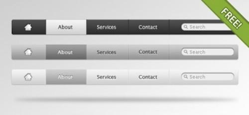 Free psd Web design Apple Style Navigation Menu
