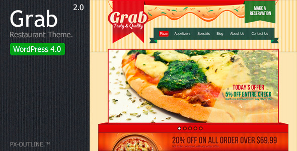 Grab Restaurant - WordPress Theme