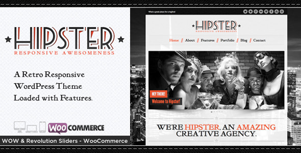 Hipster - Retro Responsive WordPress Theme