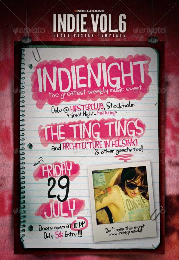 Indie-Flyer-Poster-Vol.-6