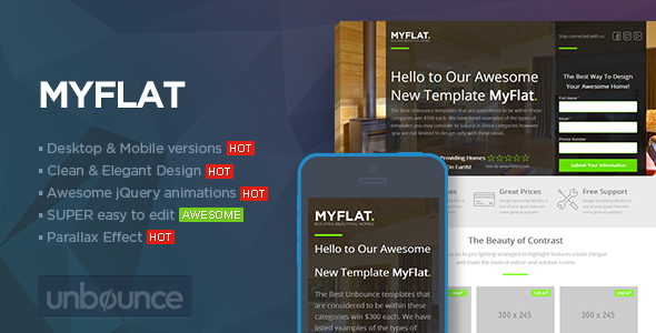 MYFLAT - Real Estate Unbounce Template