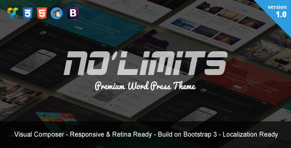NoLimits - One Page Bootstrap Responsive WordPress