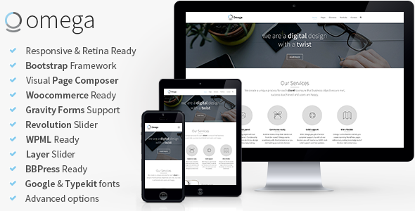 Omega - Multi-Purpose Responsive Bootstrap Theme