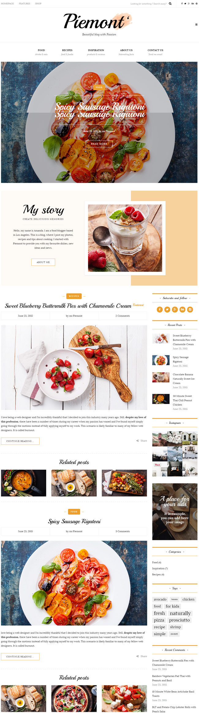 Piemont-Responsive-WordPress-Food-Blog-Theme