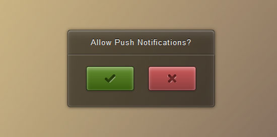 Push CSS Notification UI