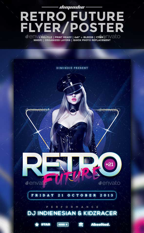 Retro-Future-Flyer-Template