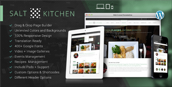 SaltKitchen-Restaurant Food Recipe Theme