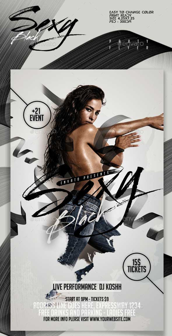 Sexy-Black-Party-Flyer