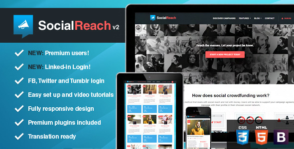 Social Reach - The Crowd-Speaking WordPress Theme