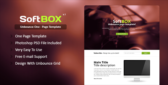 SoftBOX Unbounce Template