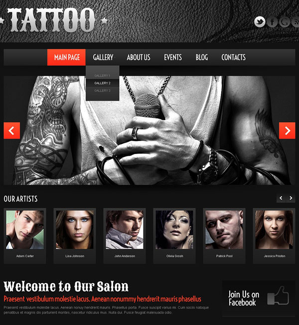 Tattoo-Salon-WordPress-Theme